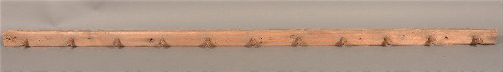 Pennsylvania 19th Century Softwood Peg Rack.