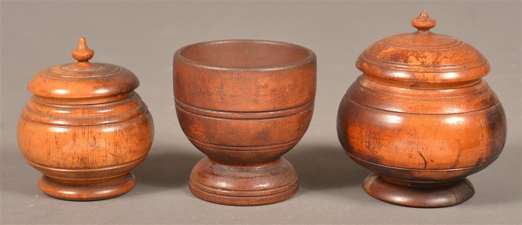 Three Pieces of 19th Century Turned Wood.