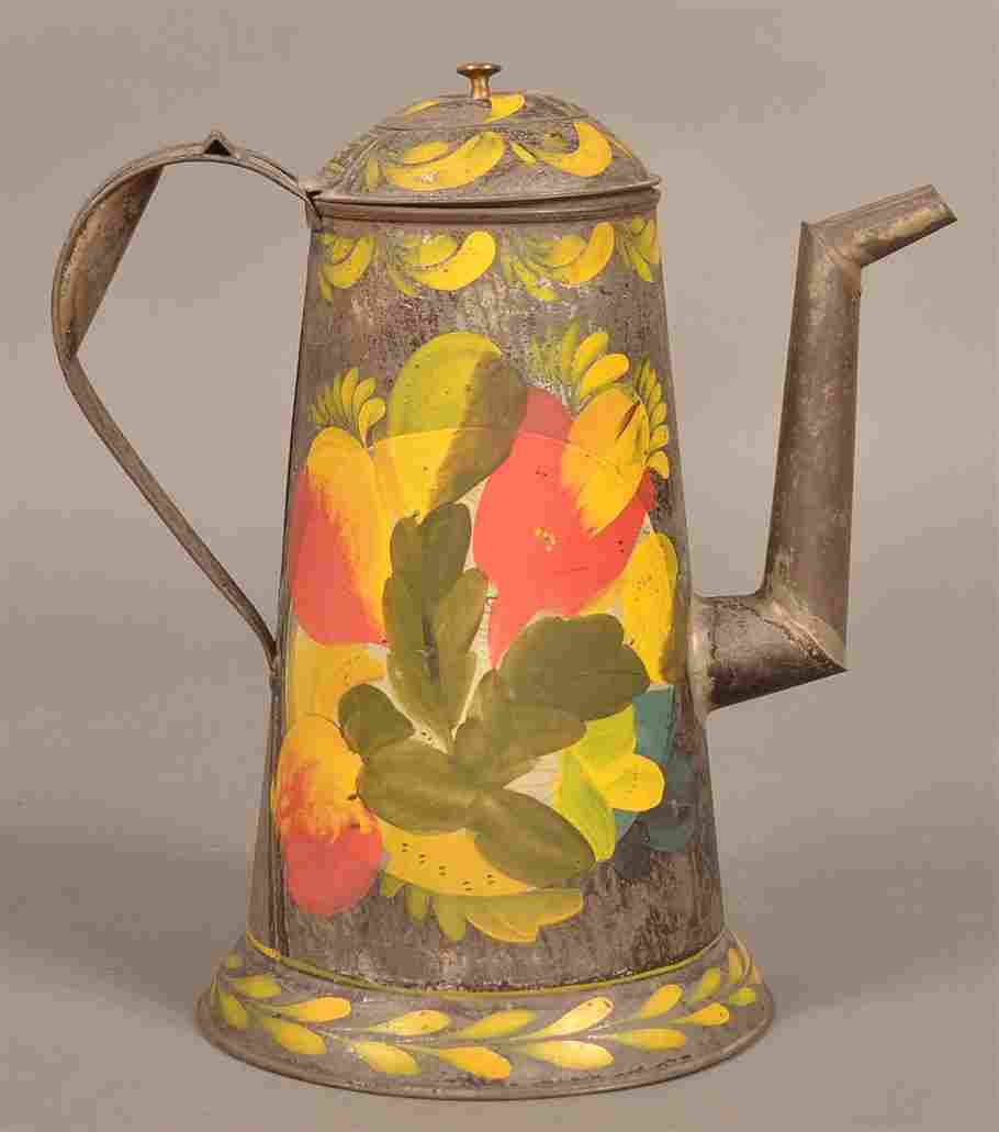 Pennsylvania Toleware Coffee Pot.