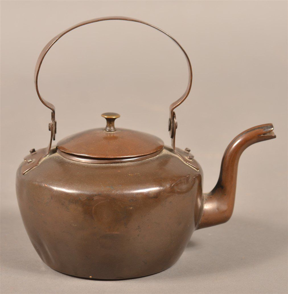PA 19th Century Miniature Copper Tea Kettle.