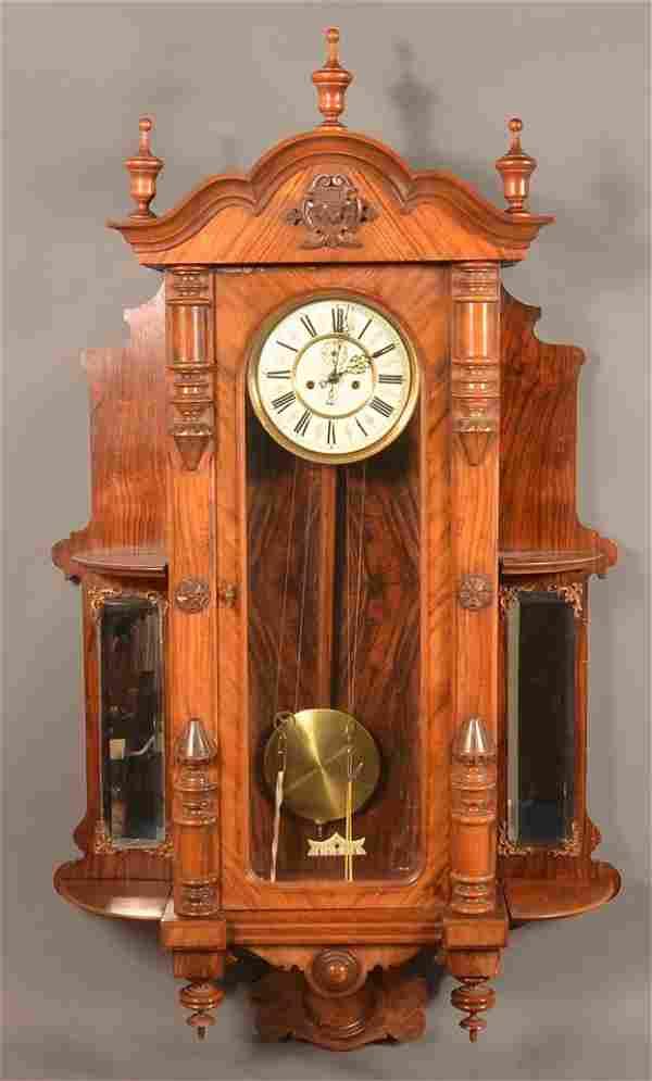 Austrian Rosewood Vienna Regulator Clock.