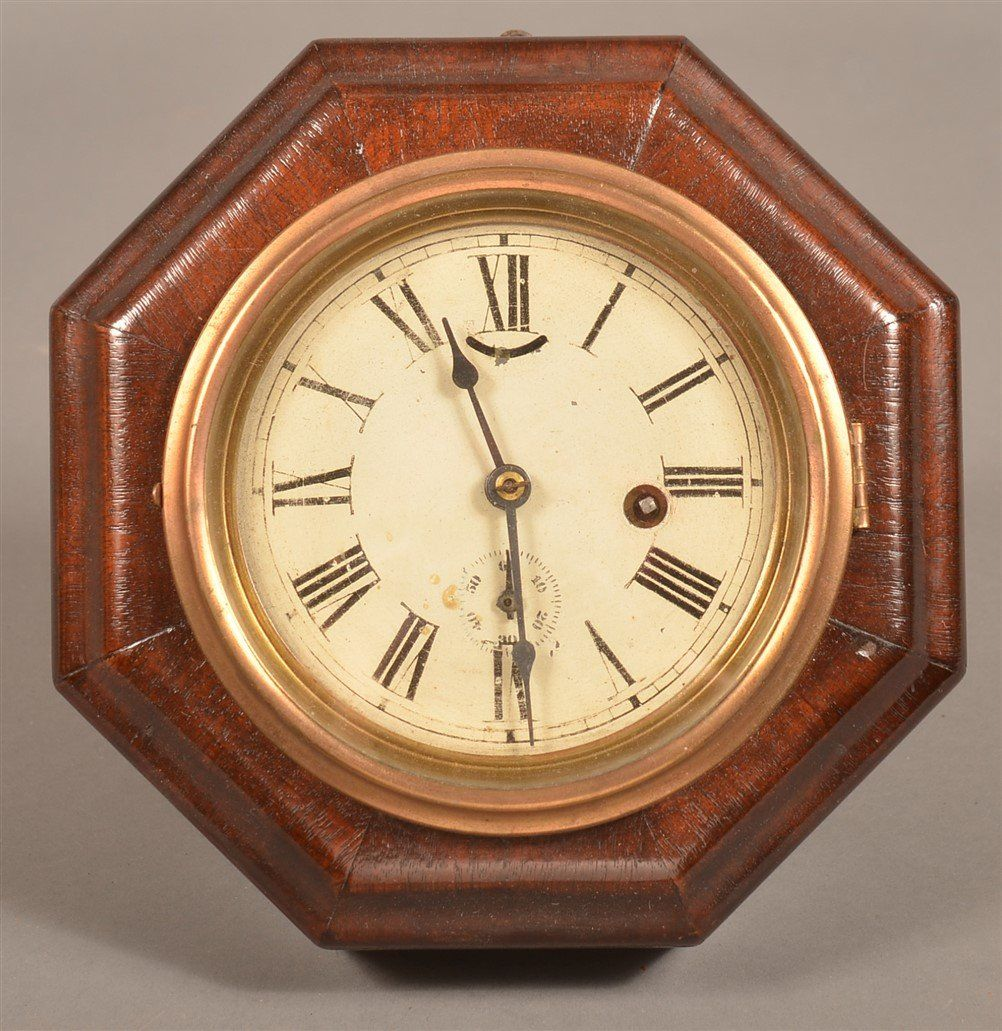 Seth Thomas Mahogany Case Wall Clock.