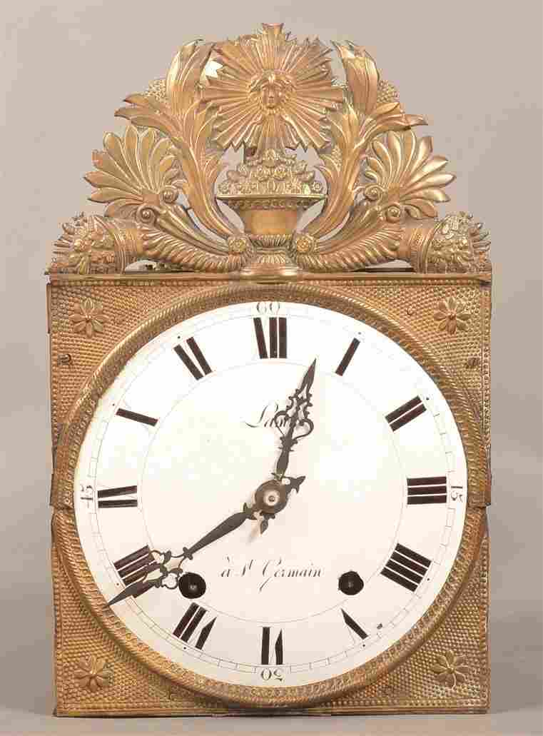 Wag on Wall Clock with Embossed Brass Facing.