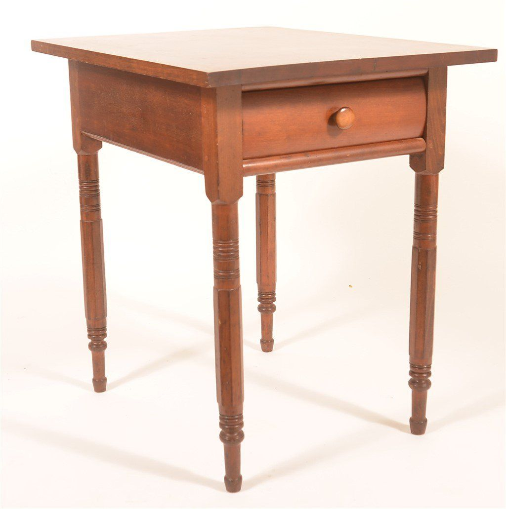 Sheraton Cherry Small Work Table with Drawer.