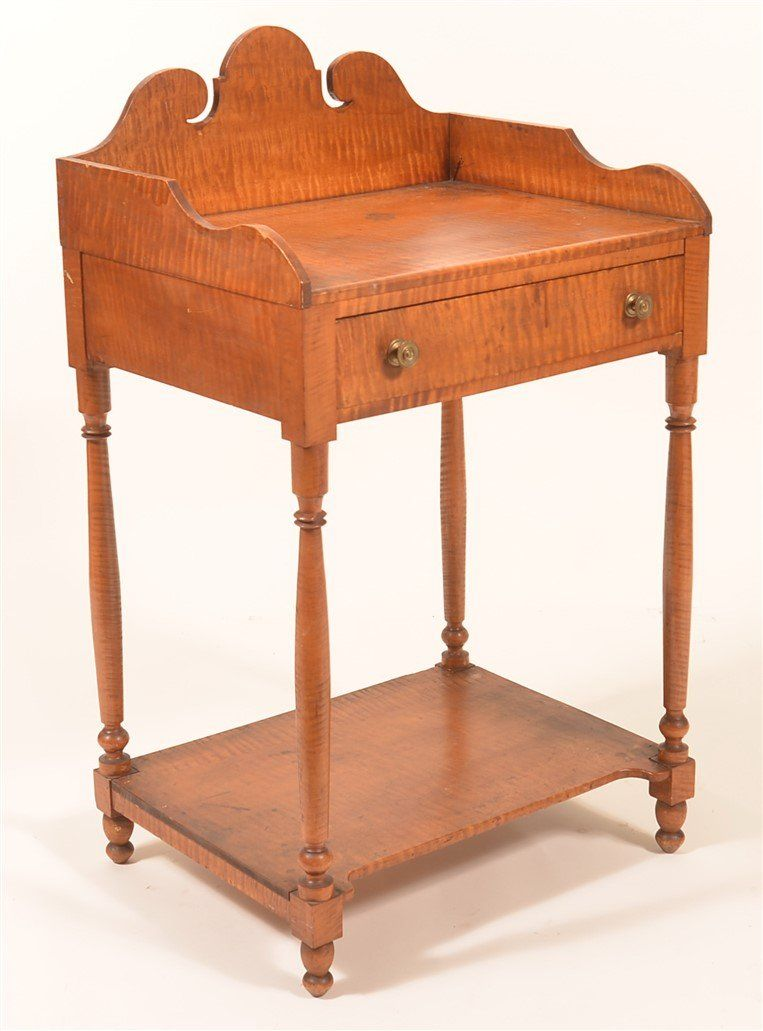 Pennsylvania Federal Tiger Maple Wash Stand.