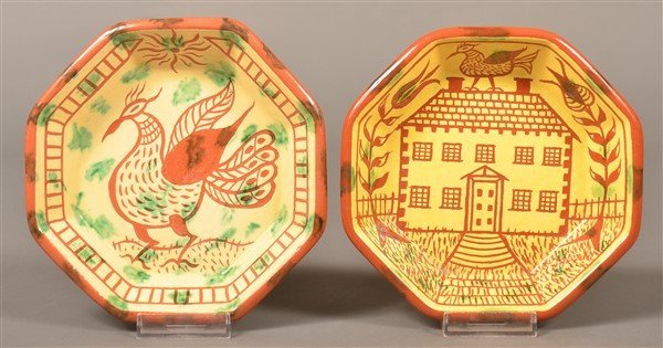 2 James Seagreaves Pottery Octagonal Bowls.