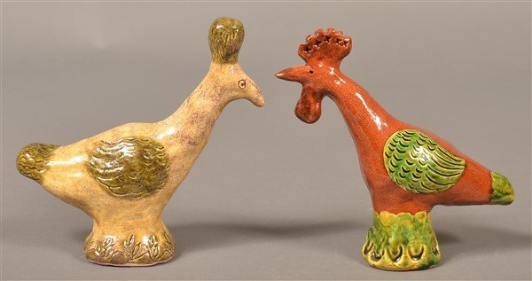 5 Susan Campbell Redware Bird Whistles. - 2