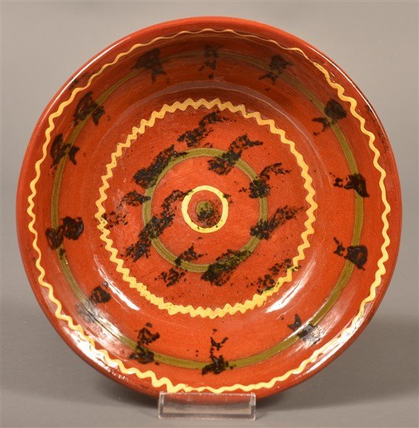 Breininger Pottery 1970 Slip Decorated Bowl.