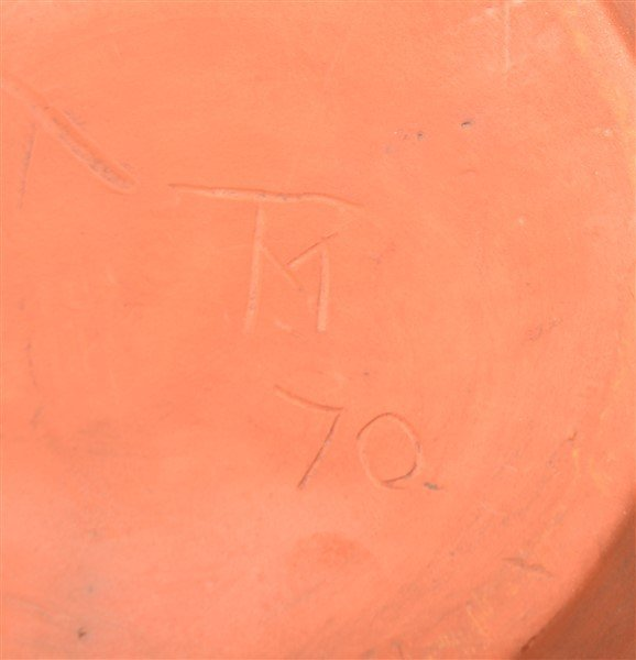 Breininger Pottery 1970 Slip Decorated Bowl. - 2