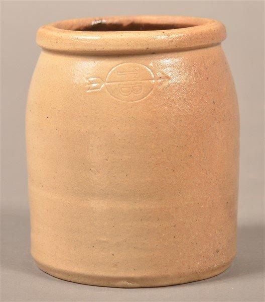 Toad Brothers, NY Glazed Stoneware Oyster Jar.