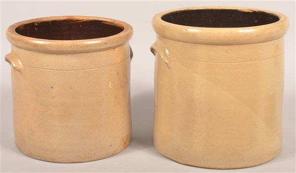 2 Pcs. of E.S. & B. New Brighton, PA Stoneware. - 2