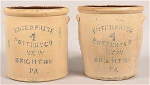 2 Pcs. Of Stoneware by Enterprise Pottery Co.