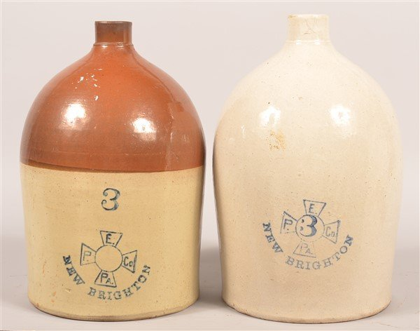 2 Pcs. Of Stoneware by Enterprise Pottery Co.