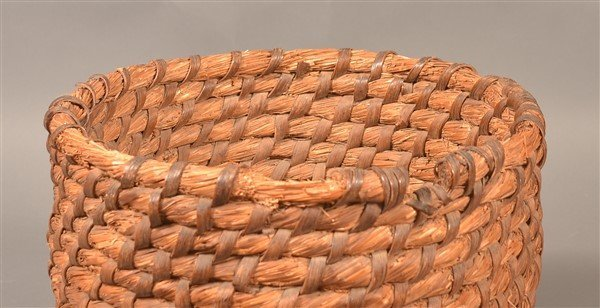 PA 19th Century Rye Straw Coil Bee Skep. - 3