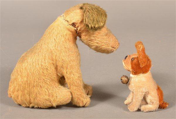 Two Vintage Stuffed Dog Toys. - 2