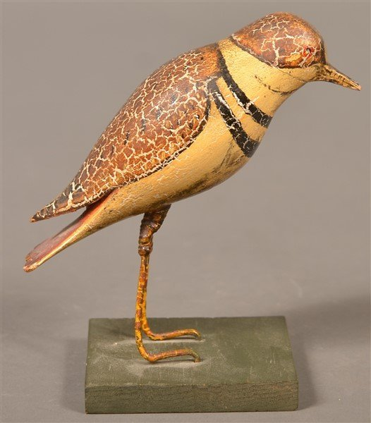 Folk Art Carved and painted figure of a Bird. - 5