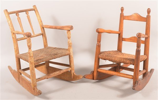 2 Early 19th Century Child's Rocking Chairs.