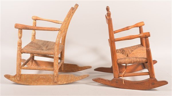 2 Early 19th Century Child's Rocking Chairs. - 2