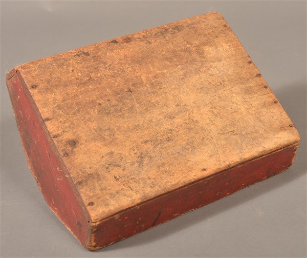 Softwood Utensil Carrier with Original Red Paint. - 3