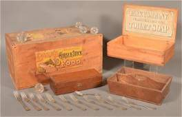 Lot of Antique Wooden Boxes