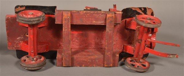 Vintage Wood and Tin Folk Art Ladder Truck. - 6
