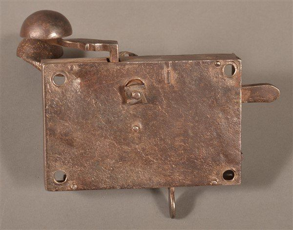 Peter Derr Iron Box Lock Door Hardware.