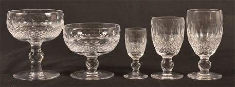 69 Pieces of Waterford Cut Crystal Stemware.
