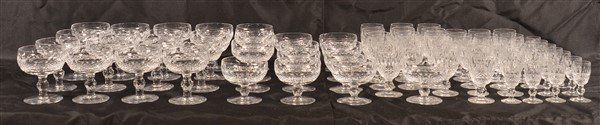 69 Pieces of Waterford Cut Crystal Stemware. - 2