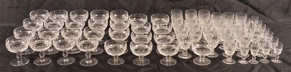 69 Pieces of Waterford Cut Crystal Stemware. - 3