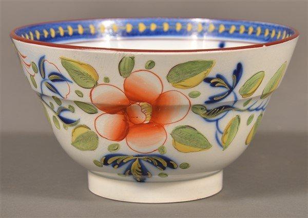 Gaudy Dutch China Single Rose Waste Bowl.