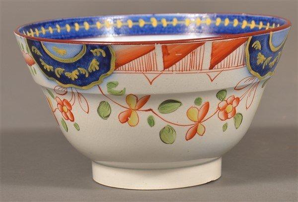 Gaudy Dutch China Single Rose Waste Bowl. - 2