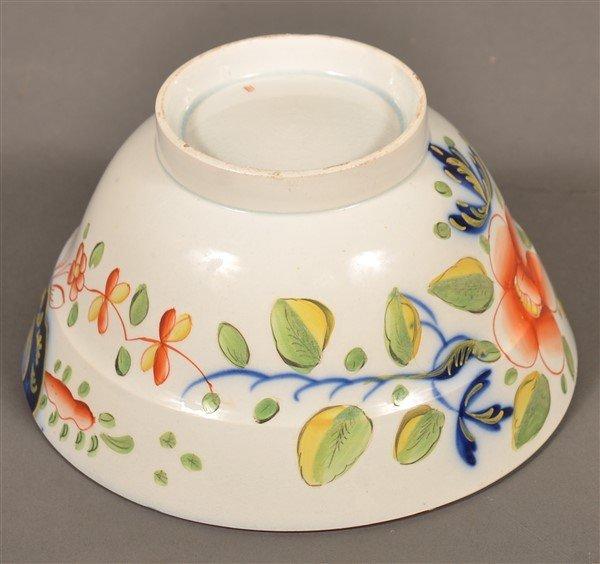 Gaudy Dutch China Single Rose Waste Bowl. - 3