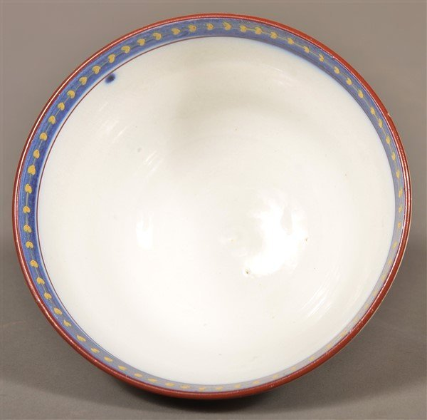 Gaudy Dutch China Single Rose Waste Bowl. - 4