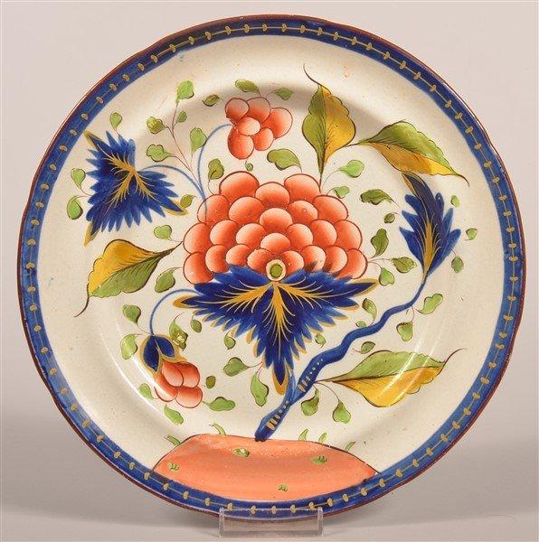 """Gaudy Dutch China Grape Pattern 9-3/4"""" Plate."""