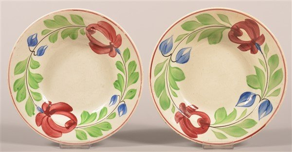 2 Late Adams Rose Ironstone China Soup Plates.