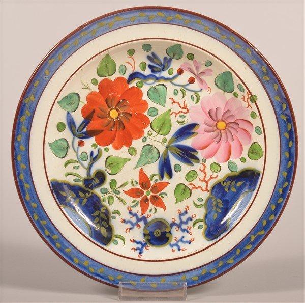 """Gaudy Dutch China Zinnia Pattern 8-3/8"""" Plate."""