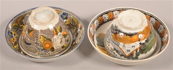 Two Salopian Soft Paste China Cups and Saucers. - 2