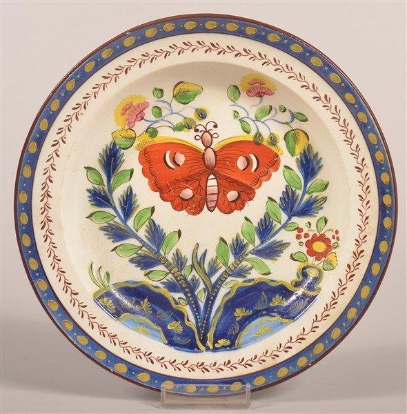 Gaudy Dutch China Butterfly Pattern Plate.