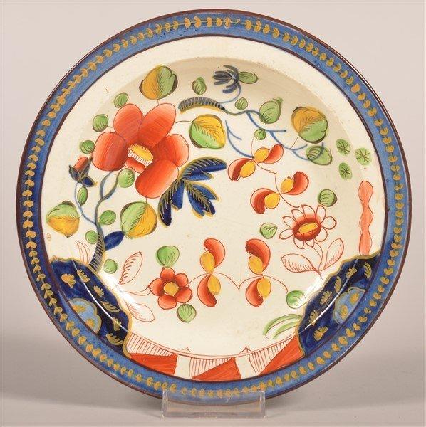 Gaudy Dutch China Single Rose Pattern Plate.