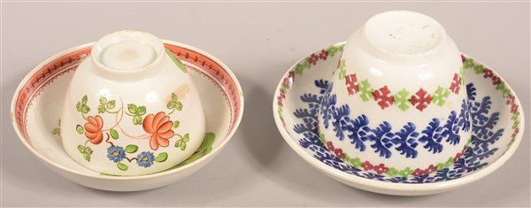 Two Various Antique China Cups and Saucers. - 2