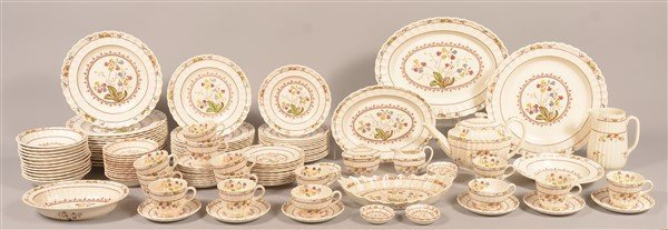 """Spode's Cowslip"" 124 Pc. China Dinner Service."