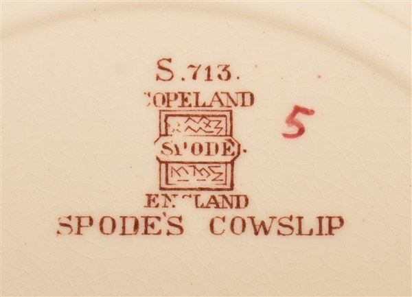 """Spode's Cowslip"" 124 Pc. China Dinner Service. - 3"