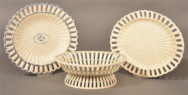 Three Pieces of Antique Creamware.