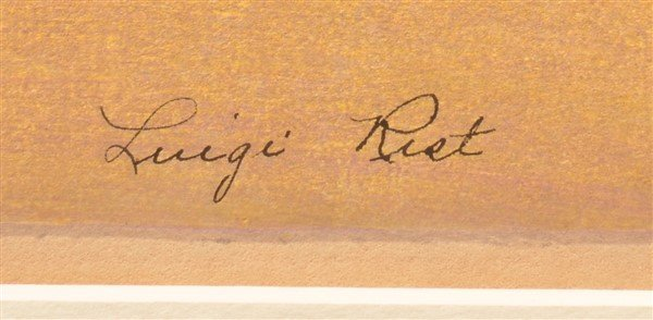 "Luigi Rist ""Scallops"" Color Woodcut on Paper. - 2"