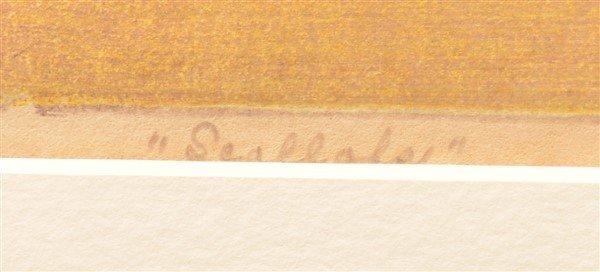 "Luigi Rist ""Scallops"" Color Woodcut on Paper. - 3"