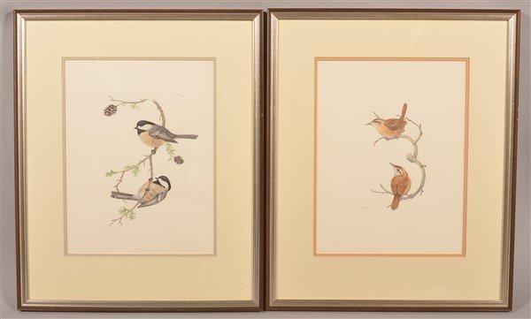 "Two Watercolor Paintings Signed ""d.l. burkhart ""."