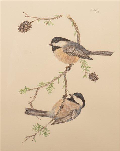 "Two Watercolor Paintings Signed ""d.l. burkhart "". - 2"