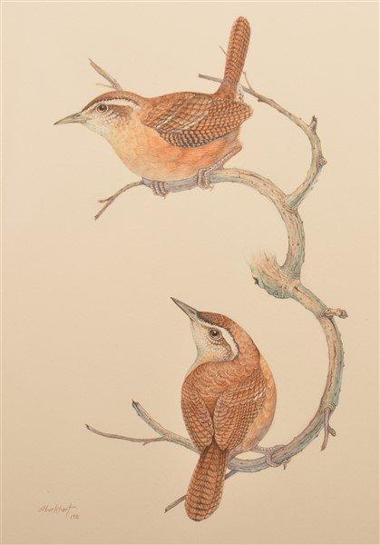 "Two Watercolor Paintings Signed ""d.l. burkhart "". - 3"