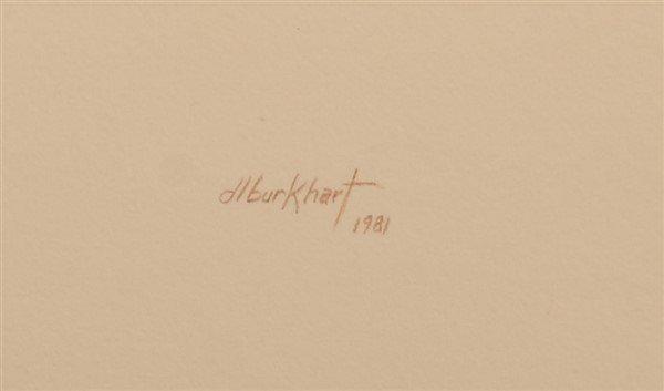 "Two Watercolor Paintings Signed ""d.l. burkhart "". - 4"