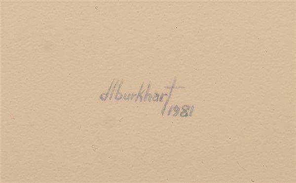 "Two Watercolor Paintings Signed ""d.l. burkhart "". - 5"
